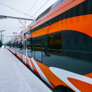 Local train in Estonia.