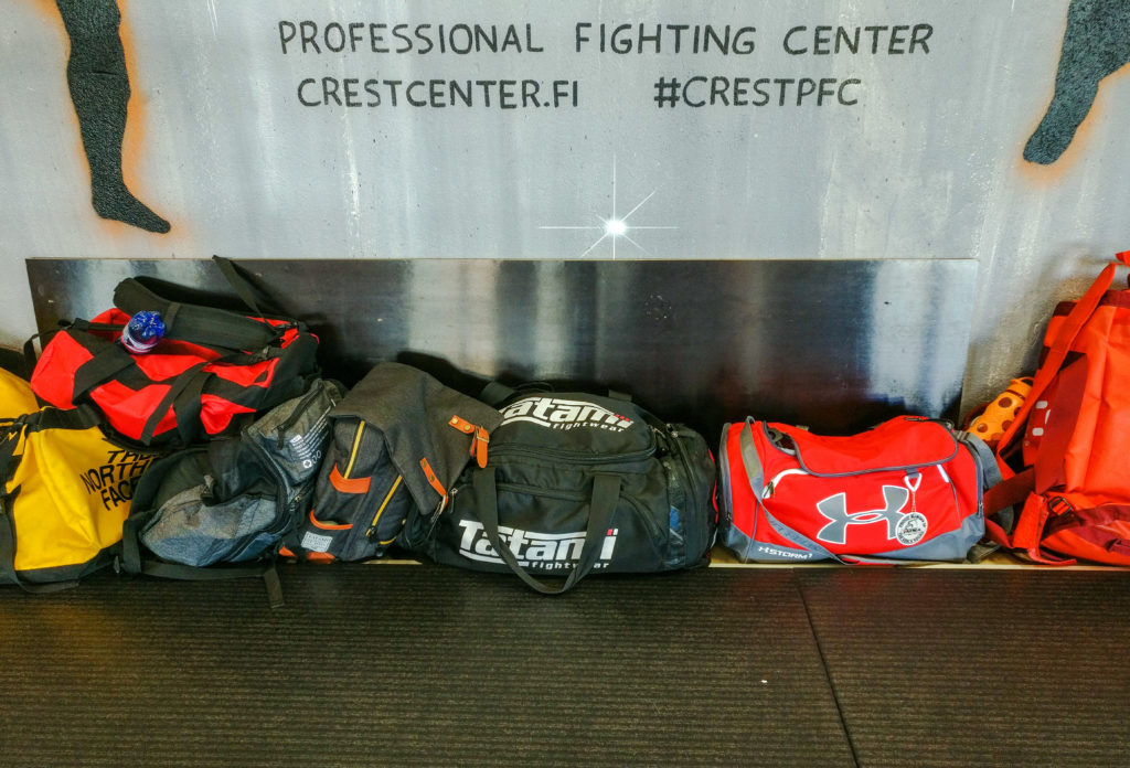 Some gym bags.